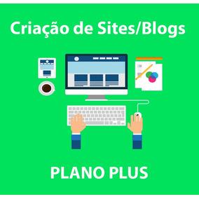 Criação De Site/blog Em Wordpress - Plano Plus Mensal
