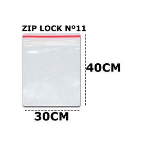 Saco Zip Lock Saquinho Ziplock 30x40 C/100un Plastico