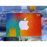 Tarjeta Itunes Gift Card $25 Dólares Apple Store Americana