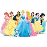 Tarjeta D Invitación Digital Princesas + Vídeo 3d Regalo