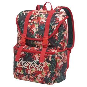 Mochila De Costas Coca Cola Floral Liberty Original