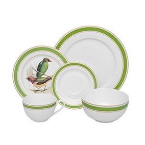 Martha Debayle Home 43838 Vajilla Verde Pájaro, 20 Piezas