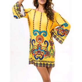 Muy Bonito Y Cómodo Vestido, Amarillo, Queda A G Y Xg