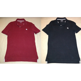Lote 2 Playeras Tipo Polo Marca Express Tinta Negra Chica S a37b34aab8af2