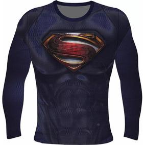 ddc4f4821 Rash Guard Termica Compressão Cap America Superman Punish