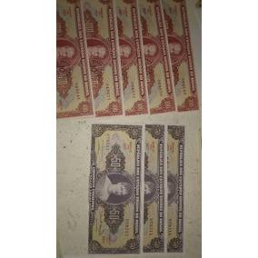 5 Cédulas Quintuplas Cem Cruzeiro Com Erro Gráfico Minstro