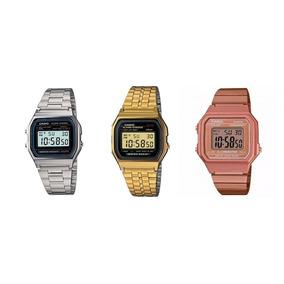 e6ec607a12c Relogio Casio Dourado Rose Vintage Elegante Barato Caixa - Relógios ...