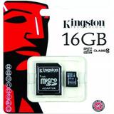 Memoria Micro Sd Kingston 16gb Clase 10 80mb
