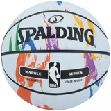 Bola De Basquete Spalding Marble Series Rainbow 7 - Cor Bran