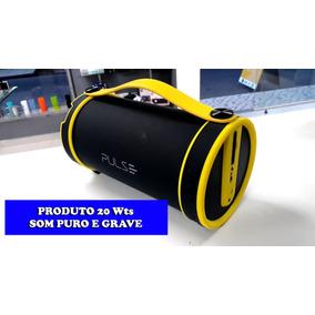 Caixa De Som Multilaser Sp222 Pulse Bazooka Bluetooth P2 Sd