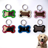 Set De 12 Placas Chapas Mediana Identificador De Perro