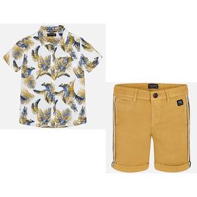 Mayoral Conjunto Camisa Y Bermudas Para Niño 6129 #8 Años