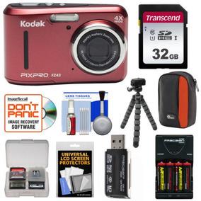 Ambiente Pixpro Kodak Zoom Fz43 Hd Digital Cámara Kit Rojo