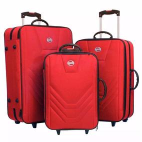 Kit Conjunto Viagem 3 Malas C/rodinhas Pequena/media/grande