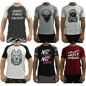 6 Camiseta Masculina Musculação Camisa Blusa Slimfit T-shirt