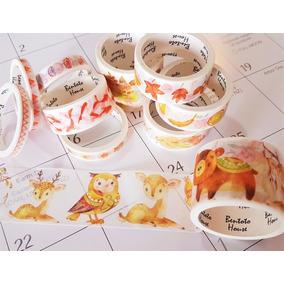 Kit 10 Washi Tape Várias Estampas Planner