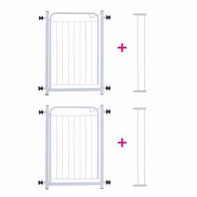 Kit 2 Portões Para Bebês Grade Proteção P Portas 69cm X 80cm