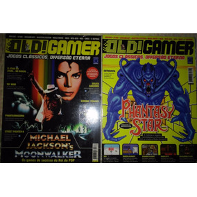 Revistas Old Gamer 1 E 2 Moonwalker Phantasy Star + Pôster