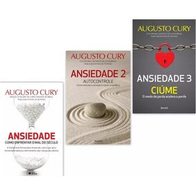 Kit Livros Augusto Cury Ansiedade Volumes 1 2 3