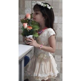 Vestido Luxo Menina Princesa Festa Infantil