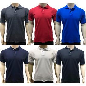 da336ccba7 Camisa Camiseta Gola Polo Basica Masculina Varias Cores