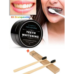Branqueador Dentes 100% Natural Bambu Kit 3 Pçs Promoção!