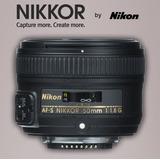 Lente Para Nikon Af-s Nikkor 50mm F/1.8g + Funda + Parasol