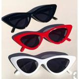Óculos Feminino De Sol Hype Triangular Moda Retro Anos 90 77a3d84fac