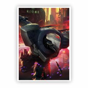 Pôster A3 - League Of Legends Zed Projeto