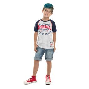 Camiseta Infantil Menino Jogador Baseball - Minore ac02806726f