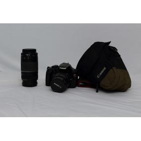 Camara Fotografica Canon T3 Con Dos Lentes Y Un Bolso