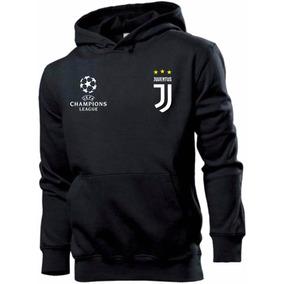 Blusa Moleton Canguru Juventus Futebol Champions Customizada