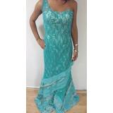Vestido Largo Elegante Dama Talla S Usado Tienda Virtual