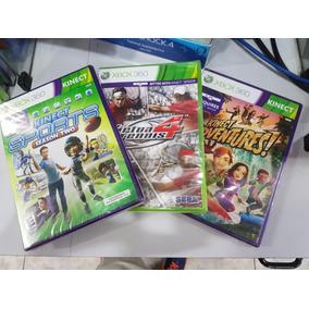 Kinect Sports 2 + Kinect Adventures+virtua Tennis 4 Xbox 360