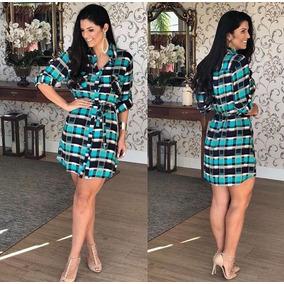 1362451df Vestido Xadrez  - Vestidos Casuais Curtos Femininas no Mercado Livre ...