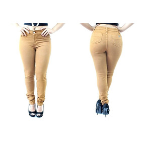 Calça Jeans Feminina Cintura Alta Lycra - Roupas Femininas