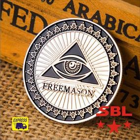 Moeda Freemason Maçônica Comemorativa Maçonaria