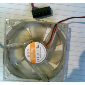 Ventilador Fan Cooler De Case Marca Hsd-8025 +luces Leds 8cm