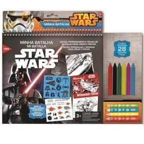 Kit Star Wars Minha Batalha Lápis De Cor + Giz De Cera 6792