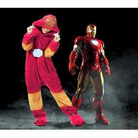 Kigurumi Pijama Adultos Plush Iron Man Importados Unicos