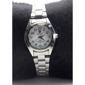 9b0316d8c42 Relógio Feminino De Pulso Prateado Resistente Orimet Barato