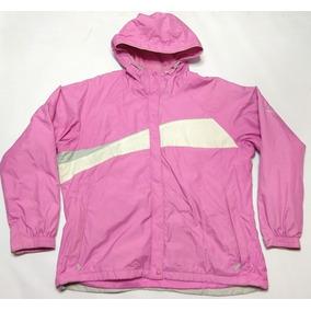 Campera Columbia Vertex Rosa Y Blanca Talle Xl Mujer c78c1e111ac