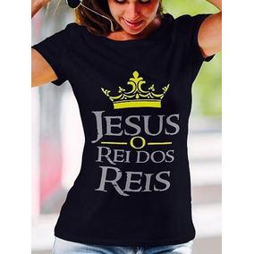 57b8518ca Camiseta Gospel Feminina Preta - Camisetas Manga Curta para Feminino ...
