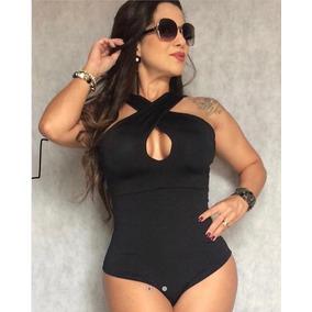 Body Bori Feminino Com Bojo Regata Frente Unica Moda Verão