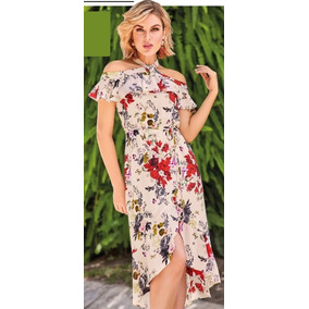 Vestidos largos floreados con manga