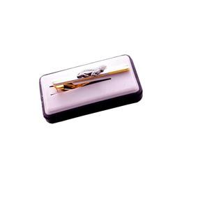 e3e48bb03e0 Prendedor De Gravata Prata   Dourado Estiloso Piloto -