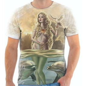 Agua Sagrada Do Mar De - Camisetas no Mercado Livre Brasil 13e30034fa780
