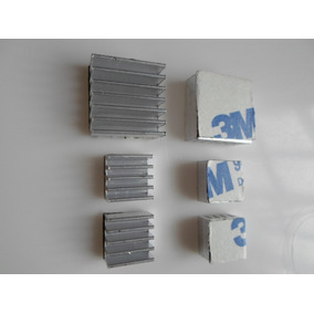 Dissipador Calor Raspberry Pi 3 2 - Pi3 - Pi2 - (kit 3 Pçs)