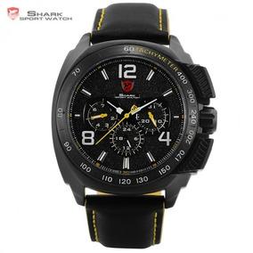 Relógio Masculino De Pulso Esportivo Shark Tubarão Mod Sh416