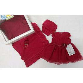 Saida Maternidade Menina Vestido Vermelho - Roupas de Bebê no ... cf0423473ec